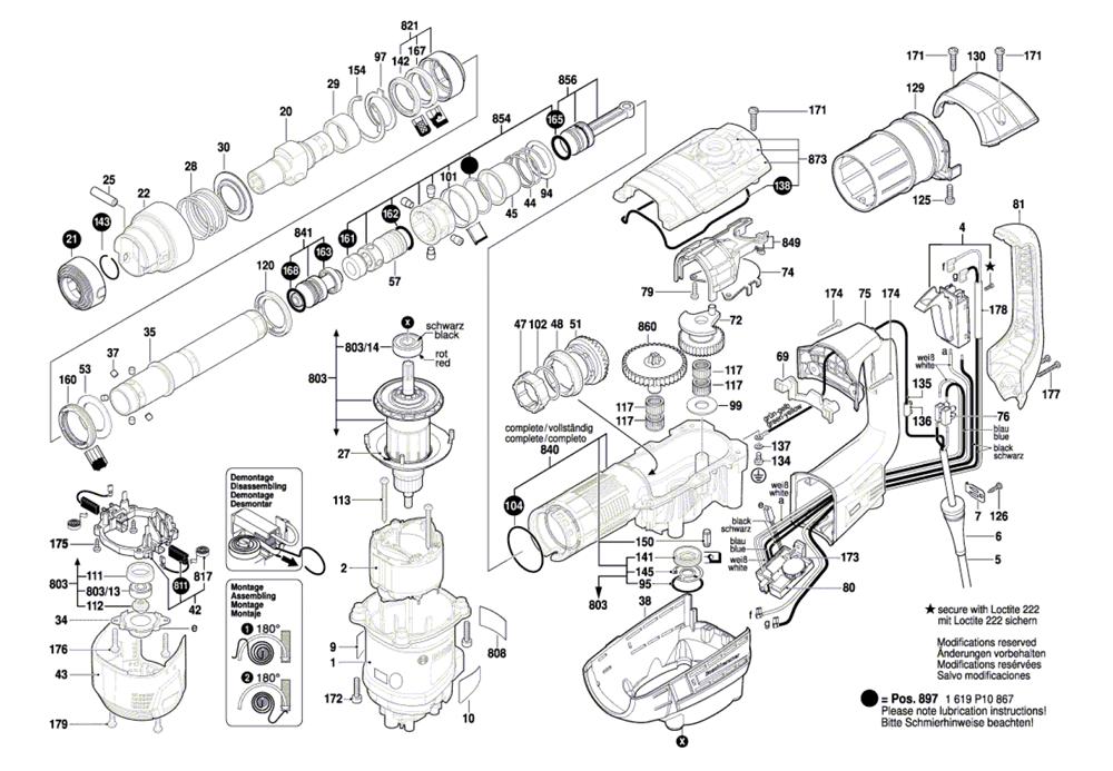 Bosch Hammer Drill Parts Diagram Printable Wiring Diagram Schematic