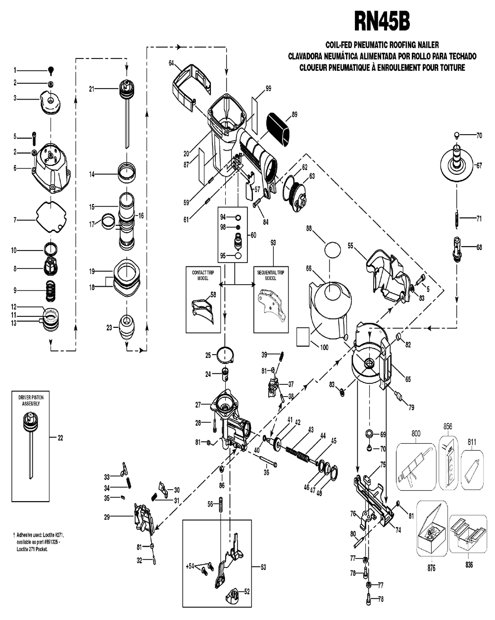 Bostitch Rn45b Parts List