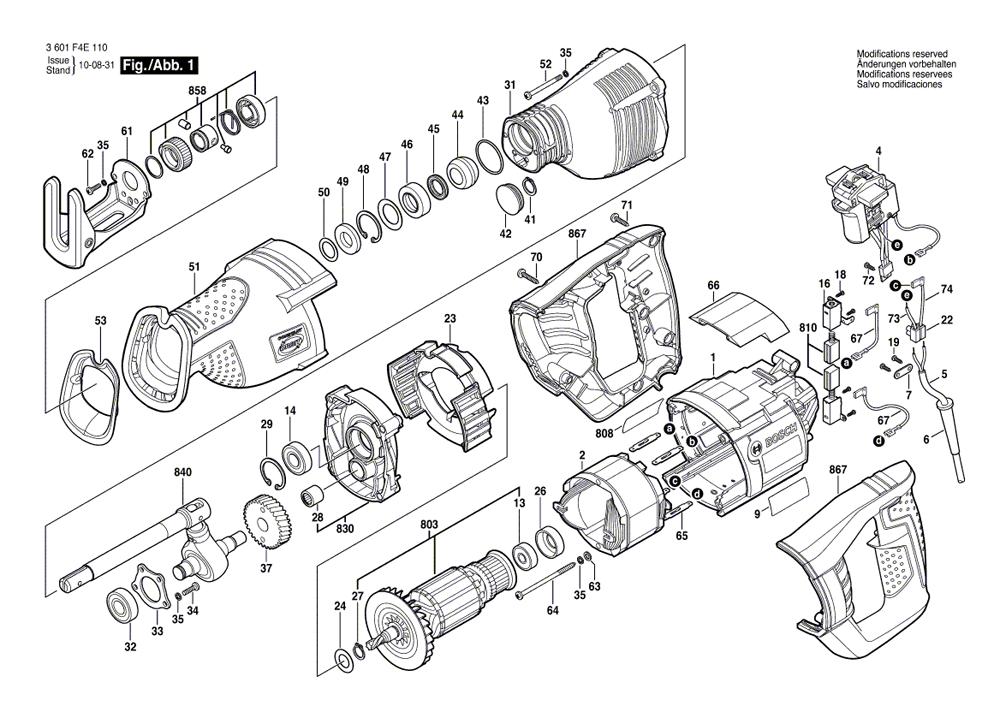 bosch rs325 parts list