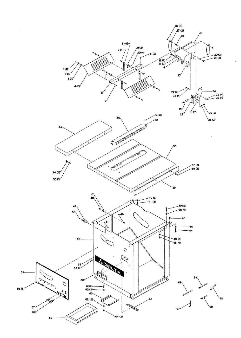 Delta Parts List Faucet 58065 And Diagram Ereplacementpartscom Repair Oem With 1000x1404