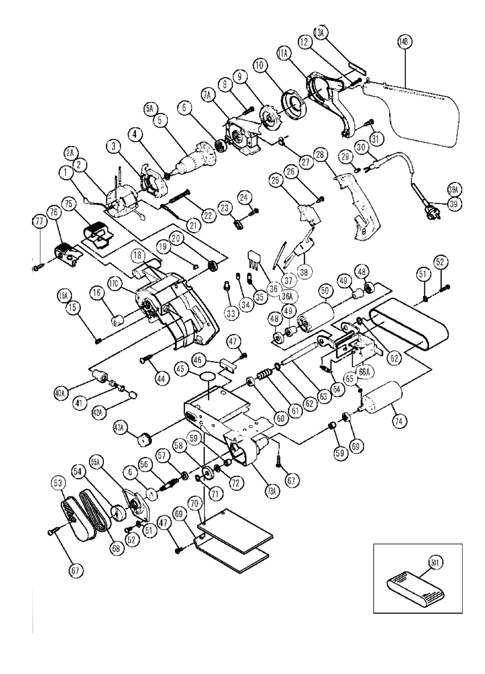 Hitachi Sb10v Parts List Repair Oem Chicago 7 Polisher Wire Diagram Schematic