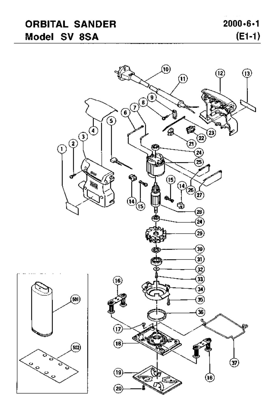 Hitachi Sv8sa Parts List Repair Oem Chicago 7 Polisher Wire Diagram Schematic