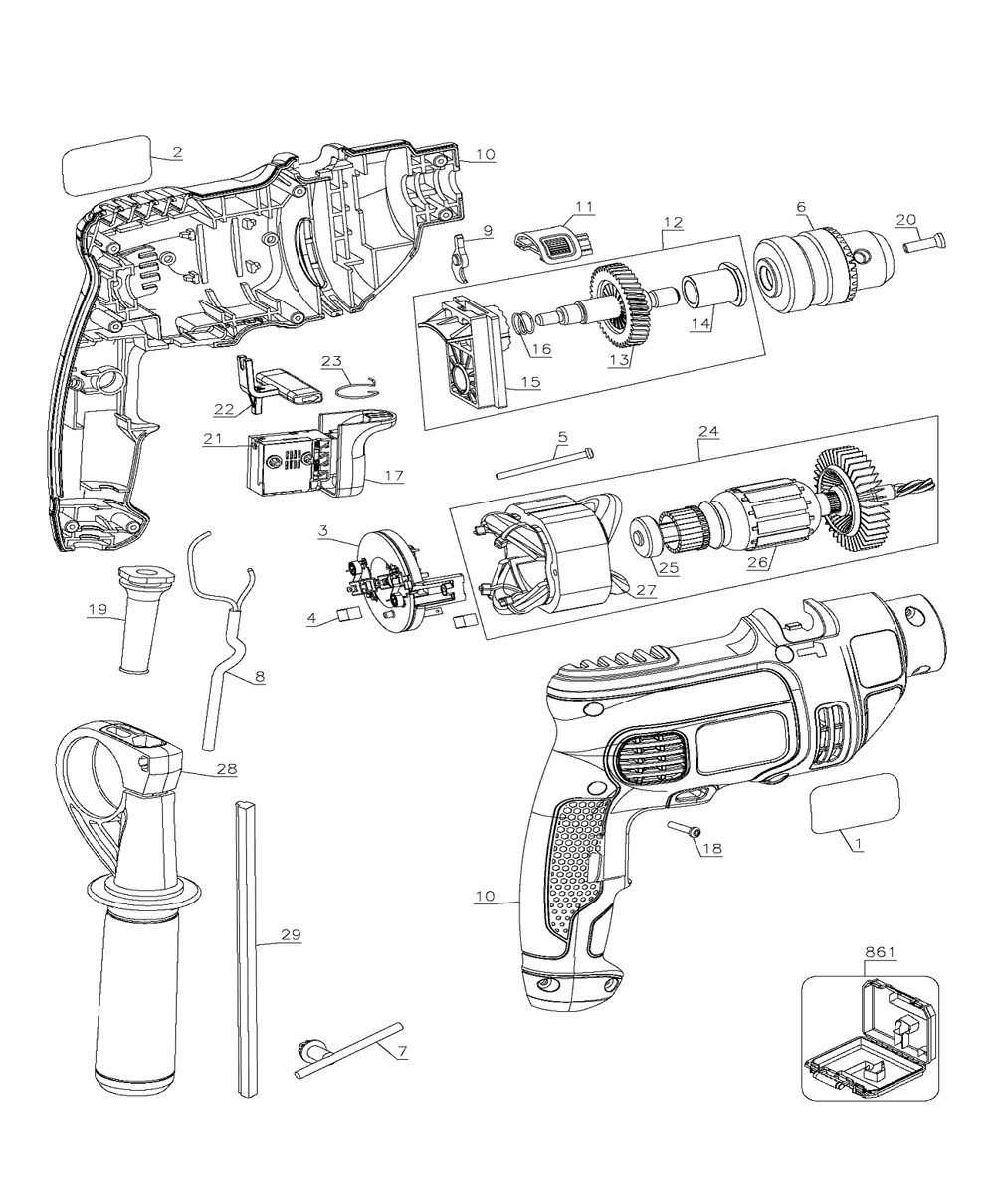 black and decker parts - HD 1000×1210