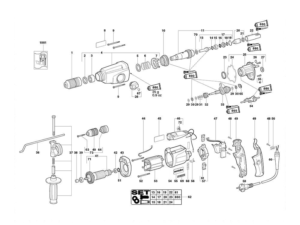 metabo uhe28multi-(00361420) parts schematic