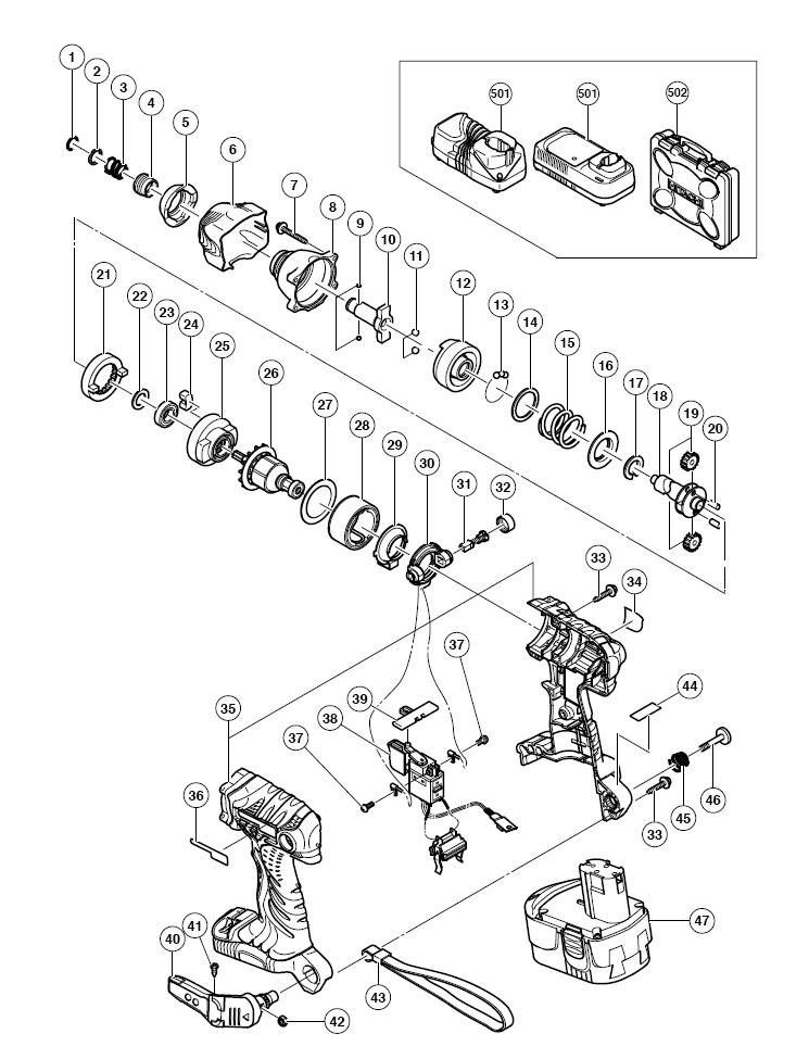 Hitachi Wh18dmr Parts List
