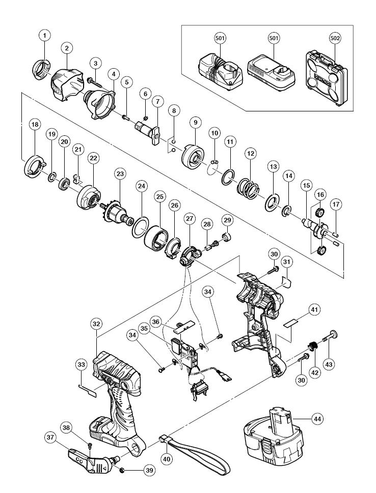 Hitachi Wr18dmr Parts List